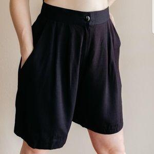Vintage Tommy Bahama High Waist Black Shorts